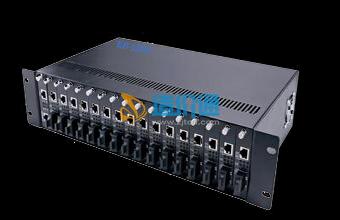海光HG-MR17网管型17槽光纤收发器机架图片