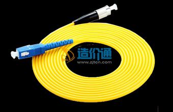 海光电信级FC-SC3M单模光纤连接器光纤跳线图片