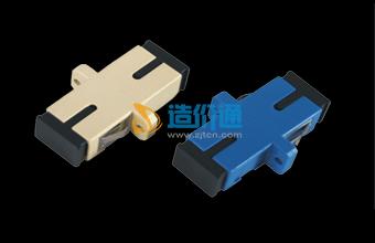 海光电信级SC单模光纤适配器法兰盘耦合器图片
