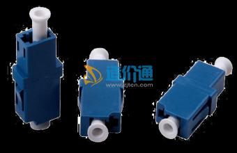 海光电信级LC单工单模耦合器法兰盘光纤适配器图片