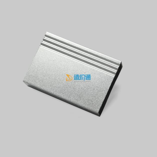 噴砂拋光鋁材幕墻料圖片