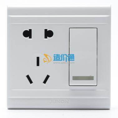 大按键单联单控开关二三极插座图片