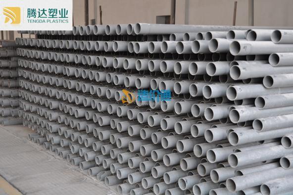 PVC实壁管75口径实壁管壁厚25图片
