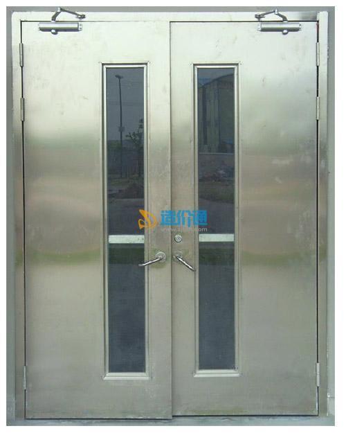 201拉丝不锈钢乙级防火玻璃门图片