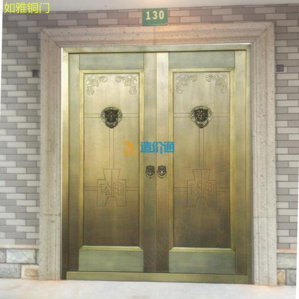 中式铜门别墅铜门家居铜门图片