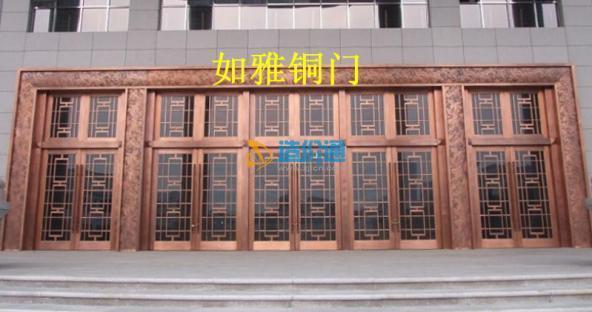 旋转铜门政府铜门博物馆铜门图片