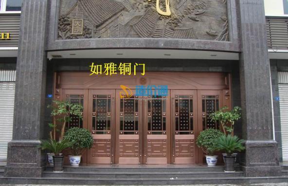 古典铜门欧式铜门商务铜门图片