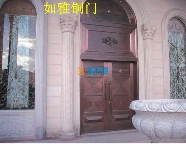 酒店铜门机关铜门工装家装玻璃铜门图片