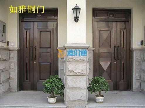 别墅子母铜门农业铜门旋转铜门图片