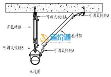 单管双向抗震支撑支吊架图片