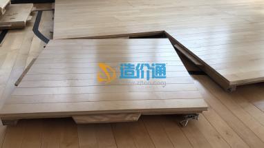 拆卸式運動木地板圖片
